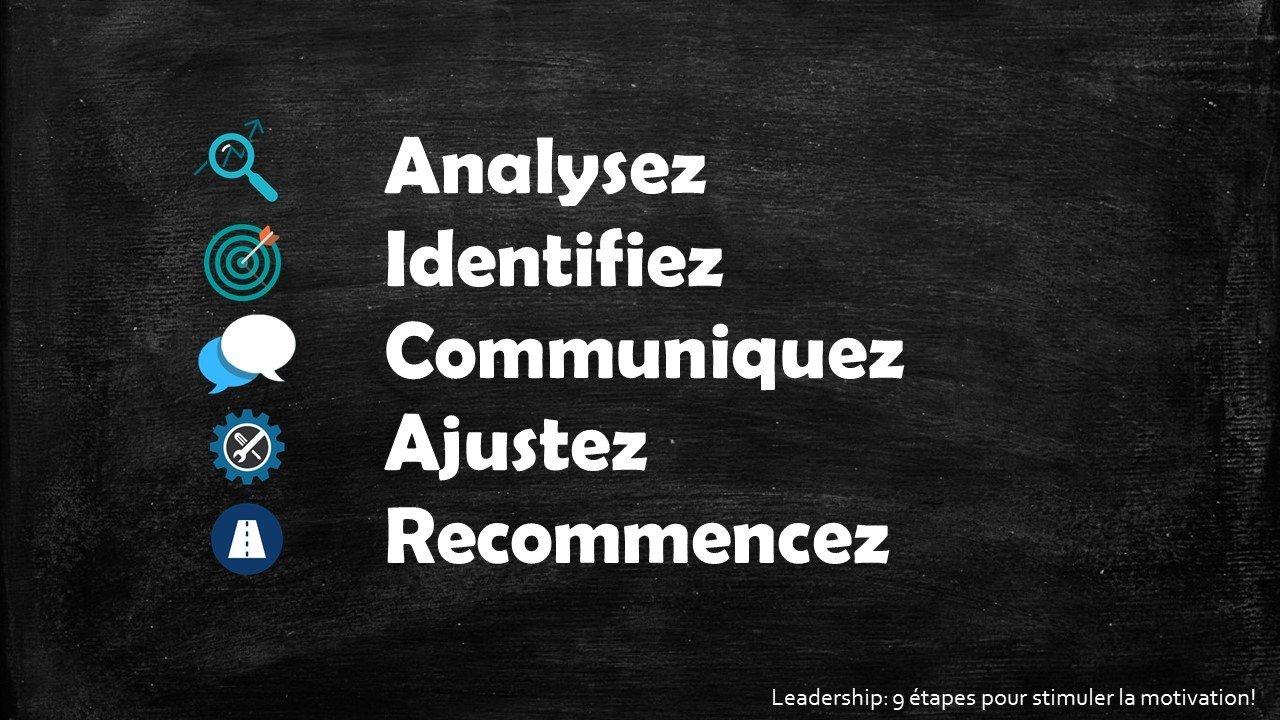 Analysez - Leadership : 9 étapes pour stimuler la motivation par Sophie Barbara Desilets