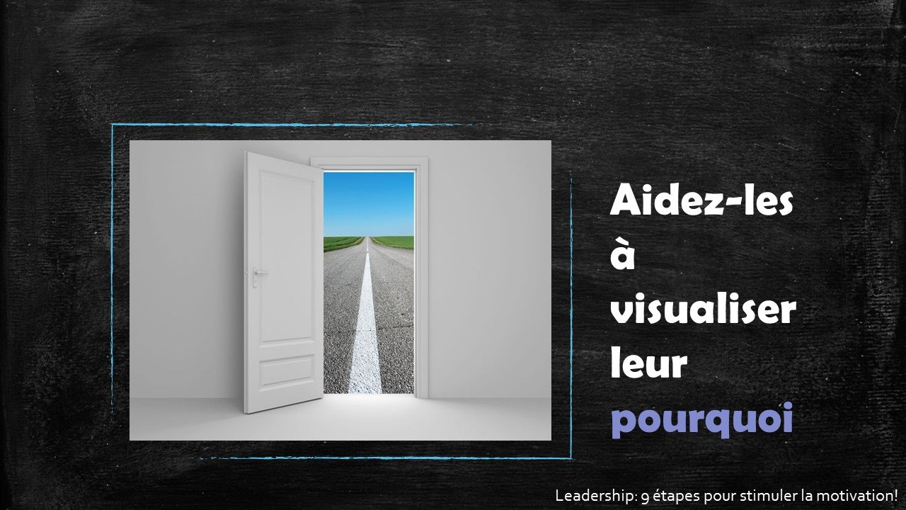 Aidez-les à visualiser pourquoi - Leadership : 9 étapes pour stimuler la motivation par Sophie Barbara Desilets