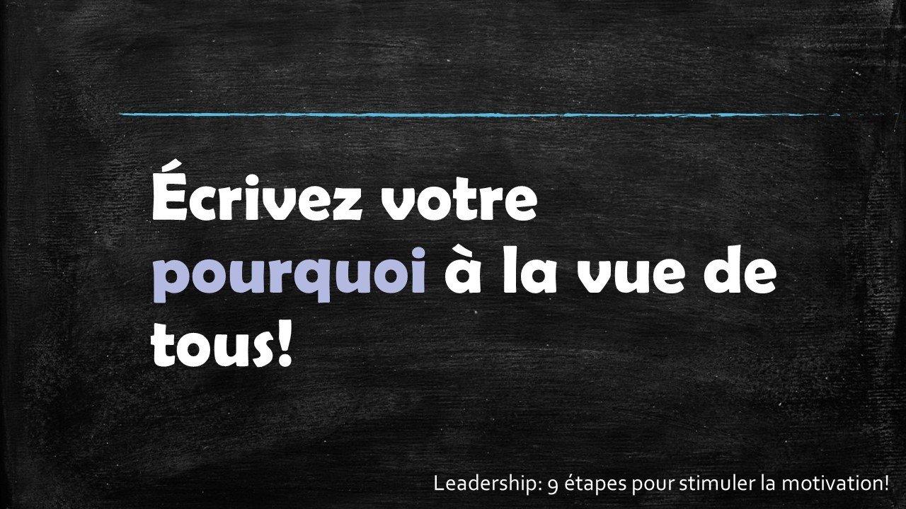 Écrivez votre rêve à la vue de tous - Leadership : 9 étapes pour stimuler la motivation par Sophie Barbara Desilets